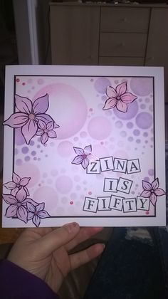 My first go with clarity letterbox and bubble stencil x