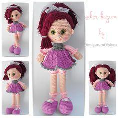 Muñeca Candy Doll Amigurumi - Patrón Gratis en Español aquí: http://awesomeneedles.blogspot.com.es/2015/01/patron-gratis-muneca-amigurumi-askina.html
