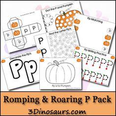 {FREE} Romping & Roaring P Pack - 3Dinosaurs.com