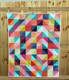 Sparkling Diamonds Baby Quilt @Mary Faith Laughlin George I love the randomness of this quilt! Keep it on file if Grandma asks... ;-)