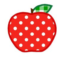 BUY 2 GET 1 FREE  Apple Applique Machine Embroidery Design by 21Reasons, $2.95