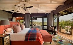 Kwandwe in the center of South Africa's malaria-free area near Grahamstown. The reserve is a member of the exclusive Relais & Chateaux portfolio. Private Games, Vibrant Colors, Colours, Game Reserve, Outdoor Furniture, Outdoor Decor, Lodges, South Africa, Safari