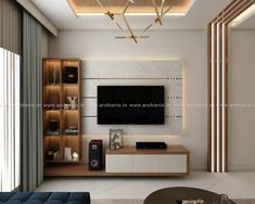 Bedroom Tv Unit Design, Tv Unit Furniture Design, Tv Unit Interior Design, Interior Design Renderings, Living Room Tv Unit Designs, Bedroom Furniture Design, Tv Cabinet For Bedroom, Tv In Bedroom, Centro Tv