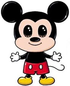 Resultado de imagem para desenhos kawaii to drawing mickey mouse Mickey Mouse Drawings, Cute Disney Drawings, Cute Kawaii Drawings, Cartoon Drawings, Easy Drawings, Mickey Mouse Tumblr, Minnie Mouse, Kawaii Disney, Arte Do Kawaii