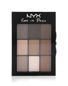 Love In Paris Parisian Chic by NYX Cosmetic. Includes 9 richly pigmented and complementing colors , dual ended applicator included to blend,  Long lasting eye shadow, compact palette for any look on the go. This eye shadow will be your next favorite make up.   http://www.zocko.com/z/JGDmx