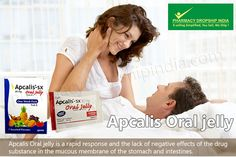 Eating and drinking do not affect the extent of absorption of Apcalis Oral Jelly in blood. You can take medication in the morning and evening, but no more than once a day.