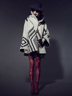 Reverse Los Ojos Trench Cloak by Lindsey Thornburg - Pendleton Exclusive Collaboration
