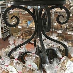 Sickles Oatmeal Cookie Wrought Iron Pedestal