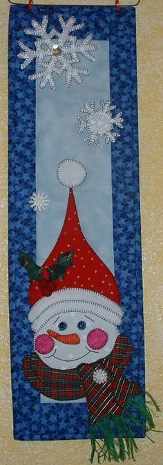 Jolly Snowman - Quilted Wall Hanging Pattern Download