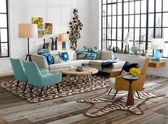 Fabulous living room with a cool collection of vases Retro Living Room Ideas And Decor Inspirations For The Modern Home