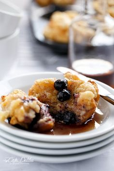 Blueberry Cheesecake Streusel French Toast Muffins   http://cafedelites.com