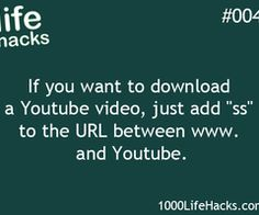 #4 # youtube hack / trick (re-pinned : online)