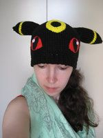 Crochet Umbreon : Crochet Umbreon Beanie by Elmira-san