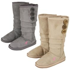 Pink Ribbon Slouch Boots