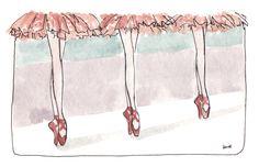 Pointe Ballet Shoe Illustration - Learn to dance at BalletForAdults.com!