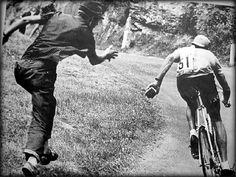 .........Merckx in a hurry, 1969!
