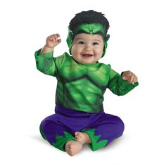 Incredibly cute! Incredible Hulk Jumpsuit Infant Costume at www.Toynk.com!
