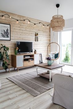 salon w stylu rustykalnym Style Rustique, Home Living Room, Industrial Style, Sweet Home, Room Decor, Backyard, School Hairstyles, Interior Design, House Styles
