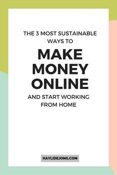 Have you been searching for ways to make money online so that you can work from your own home? I've tried a ton of small business ideas and ways to earn money online and I'm telling you the top THREE that have the most potential for you to make a full time income by being an online entrepreneur. Click through to find out.