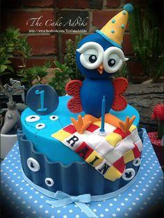 Hoot....... Owl Cakes, Bird Cakes, Cupcakes, Cupcake Cookies, Owl Cake Toppers, Gateaux Cake, Love Cake, Sweet Cakes, Fondant Cakes