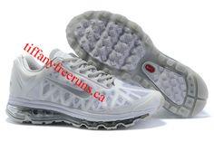 Mens Nike Air Max 2011 White/Metallic Silver Sneakers
