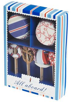 "For the nautical baker in your life- ""Bake sale cupcake kit"" @Modcloth"