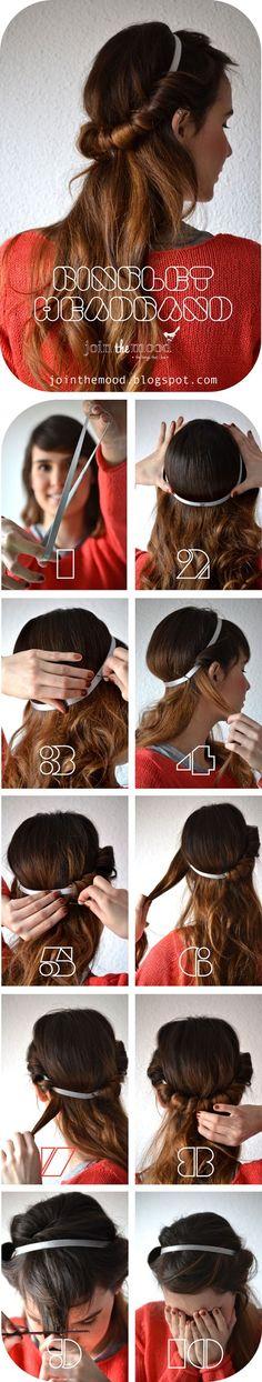 Ringlet Headband. I never know if it's super easy hairdo