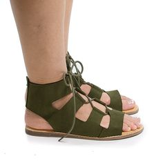 aea7ab77b Open Toe Gladiator Lace Up Flat Sandals -- See this great image : Gladiator  sandals