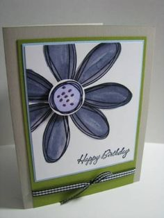 Pretty Purple Pick a Petal by Pure-Genius - Cards and Paper Crafts at Splitcoaststampers Homemade Greeting Cards, Homemade Cards, Pure Genius, Envelope Art, Bonn, Card Crafts, Snail Mail, Tim Holtz, Kids Cards