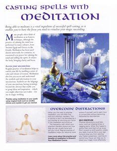 Magick Spells:  Casting #Spells with Meditation.