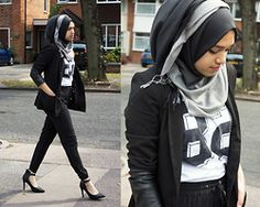 Blackdiiamonds Ombre Scarf, Forever 21 82 Top, Forever 21 Blazer, Blackdiiamonds Trousers, Primark Heels - 82 - Saima Chowdhury