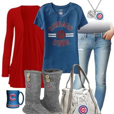 Chill out Chicago Cubs team spirit style with a comfy Cubs tee, cozy team sweater boots, a cute Cubs necklace, and have some tea in your Chicago logo mug. Minnesota Twins Baseball, Red Sox Baseball, Chicago Cubs Baseball, Chicago Cubs Memes, Espn Baseball, Tigers Baseball, Baseball Field, Chicago Cubs Pictures, Cubs Gear