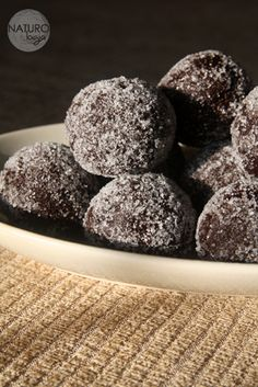 raw chocolate trufles with plums and cloves