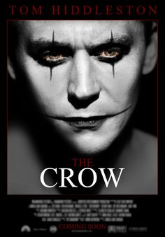 """Tom Hiddleston In Talks For THE CROW - Okay. I have mixed feelings about this. On one hand, I LOVE Tom Hiddleston & think that he is an amazing actor. He would probably do really well portraying Eric Draven. On the other hand, my favorite movie of all time is the original """"The Crow"""" with Brandon Lee so I was not exactly happy when I heard that they were thinking about remaking the movie to begin with. I'm so conflicted!"""