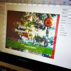 Preparado nuestro mensaje de #navidad.  #holidays #christmas