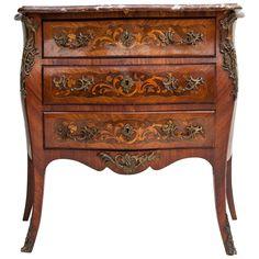 Exquisite 19th Century Louis XV Marquetry Chest