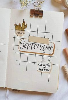 Bullet Journal Cover Ideas, Bullet Journal Mood, Bullet Journal Aesthetic, Bullet Journal Spread, Journal Covers, Bullet Journal Inspiration, Happy September, Cover Pages, Spice Things Up