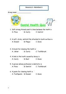 Worksheets Dental Hygiene Worksheets personal hygiene worksheets for kids dental health quiz plan and care hygiene
