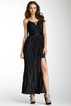 Madison Marcus Scoopneck Spaghetti Strap Crinkled Maxi Dress in Black. $95.00 - available sizes: XS and S.