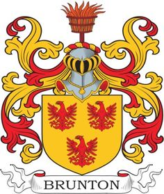 Brunton Family Crest and Coat of Arms