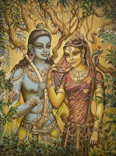 Sita Print featuring the painting Sita And Ram by Vrindavan Das