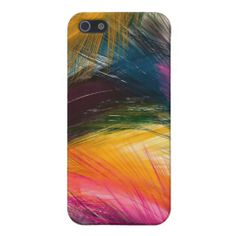 Colorful Feathers Girly iPhone 5/5s Case