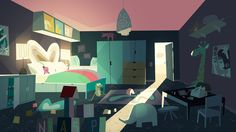 Image result for powerpuff girls interior background art