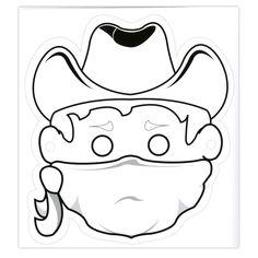 Masque de cowboy à imprimer, décorer et découper