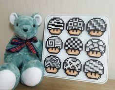 Mario mushrooms perler beads by guswjd6031