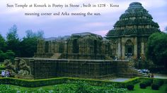 ‪#‎SunTemple‬ at ‪#‎Konark‬ is Poetry in Stone, built in 1278 - Kona meaning corner and Arka meaning the sun. Did you know the wheels of the temple are sundials which can be used to calculate time accurately to a minute including day and night! ‪#‎SwostiHotels‬ ‪#‎SWostiGroup‬ ‪#‎Bhubaneswar‬ ‪#‎Orissa‬