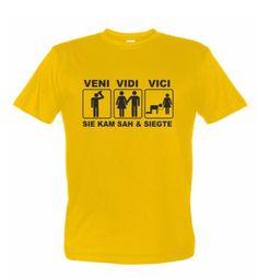 Veni Vidi Vici - Sie kam, sah und siegte ... JGA Fun Shirt für den letzten Tag in Freiheit
