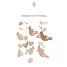 Little Princess Ceiling Sculpture Love Birds by Lambs and Ivy<br/><p></p><br/><p>Lambs & Ivy - Ceiling Sculp - Love Birds</p><!--END-->