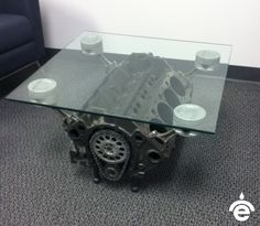 Repurposing Planes, Trains U0026amp; Automobiles Engine Coffee Table, Engine  Table, Car Part