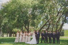 Camille & Rob's Travel Themed Wedding: Large Bridal Party, Bridal Party, Bridesmaids, Groomsmen
